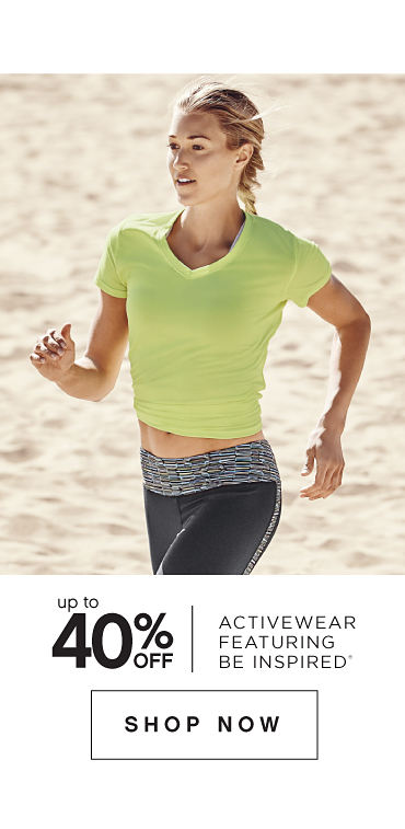 Up to 40% off Activewear featuring be inspired® - Shop Now