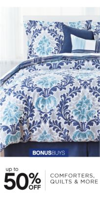 BONUSBUYS | up to 50% OFF COMFORTERS, QUILTS & MORE