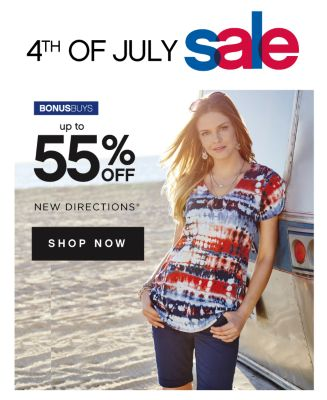 4TH OF JULY sale | BONUSBUYS | up to 55% OFF | NEW DIRECTIONS® SHOP NOW