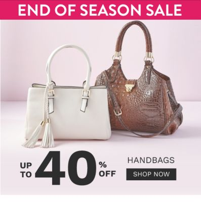 End of the Season - Up to 40% off Handbags - Shop Now