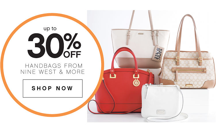 Up To 30% Off Handbags From Nine West & More | Shop Now