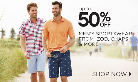 Up To 50% Off Men's Sportwear From IZod, Chaps & More | Shop Now