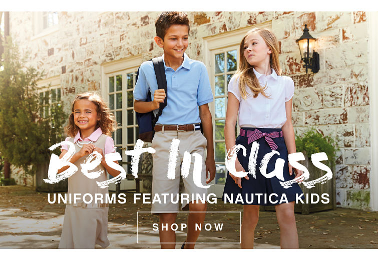 Best in class | Uniforms featuring Nautica Kids | shop now