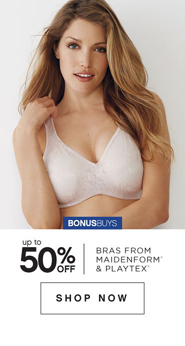 BonusBuys | Up to 50% off Bras from Maidenform® & Playtex® - Shop Now