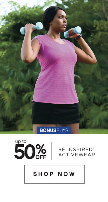 BonusBuys | Up to 50% off be inspired® Activewear - Shop Now