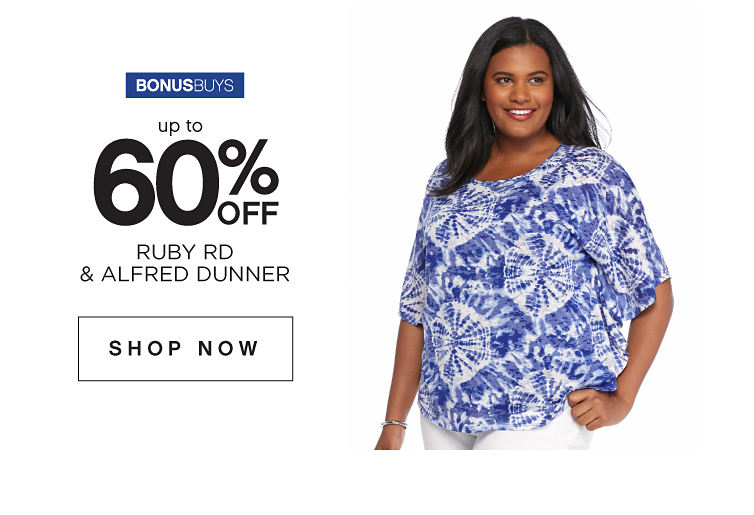 BonusBuys | Up to 60% off Ruby Rd & Alfred Dunner - Shop Now