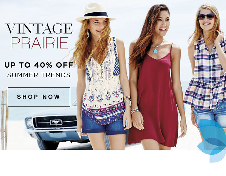 Vintage Prairie | Up to 40% off summer trends | shop now