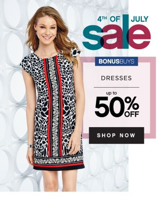 4TH OF JULY sale Bonusbuys Dresses up to 50 off