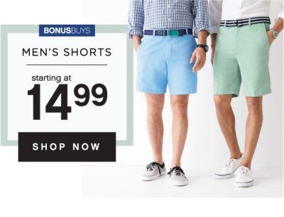 BONUSBUYS | MEN'S SHORTS STARTING AT 14.99 | SHOP NOW