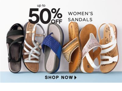 up to 50% off womens sandals
