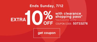 10% off clearance