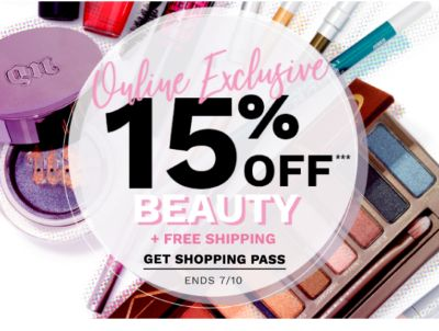 Online Exclusive - 15% off Beauty + Free Shipping - Get Shopping Pass