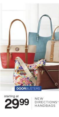 DOORBUSTERS | starting at 29.99 NEW DIRECTIONS® HANDBAGS