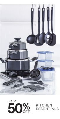 up to 50% OFF KITCHEN ESSENTIALS