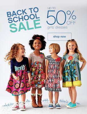 up to 50% off girls dresses