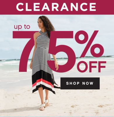 CLEARANCE | up to 75% OFF SHOP NOW