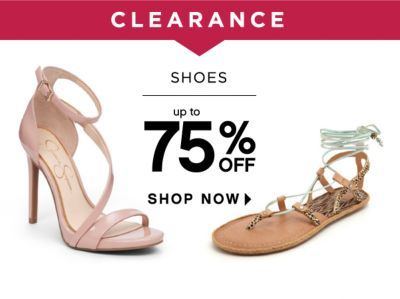 CLEARANCE | SHOES | up to 75% OFF SHOP NOW