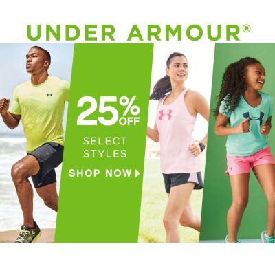 UNDER ARMOUR® | 25% OFF SELECT STYLES | SHOP NOW