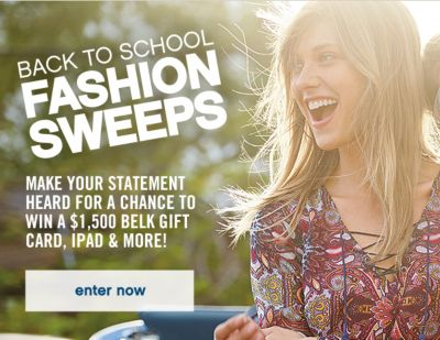 back to school fashion sweeps