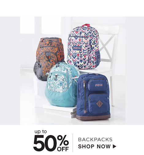 Up to 50% off Backpacks - Shop Now