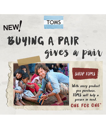 New! Toms | Buying A Pair Gives A Pair | Shop Toms