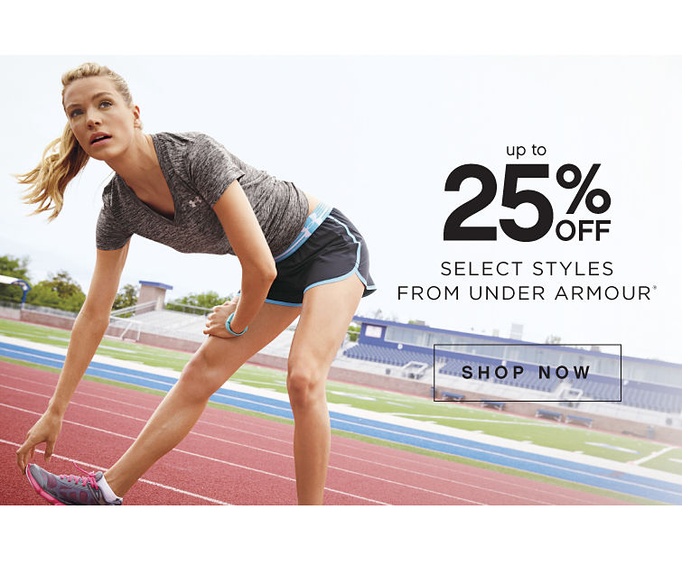Up to 25% off Select Styles From Under Armour® - Shop Now