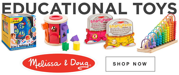 Educational toys. Melissa and Doug registered trademark. Shop now
