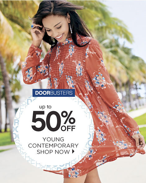 Doorbusters | Up to 50% off Young Contemporary - Shop Now