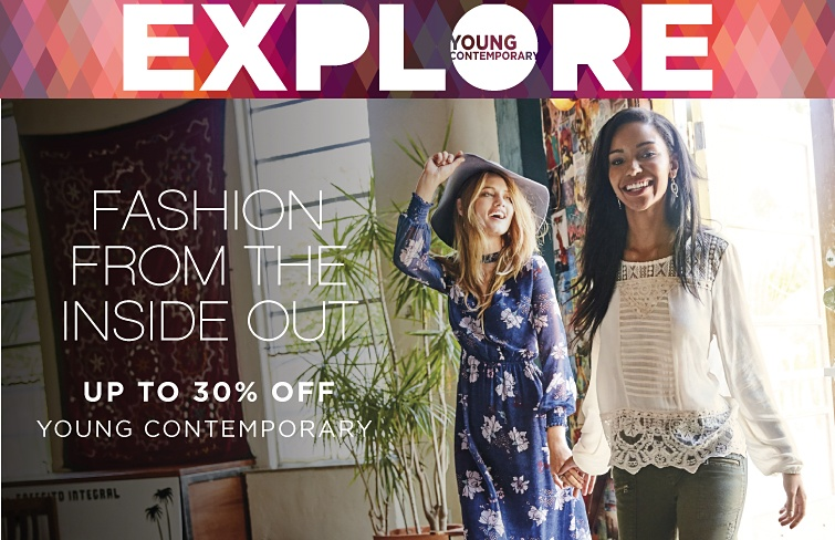 Explore Young Contemporary. Fashion From The Inside Out - Up to 30% off Young Contemporary