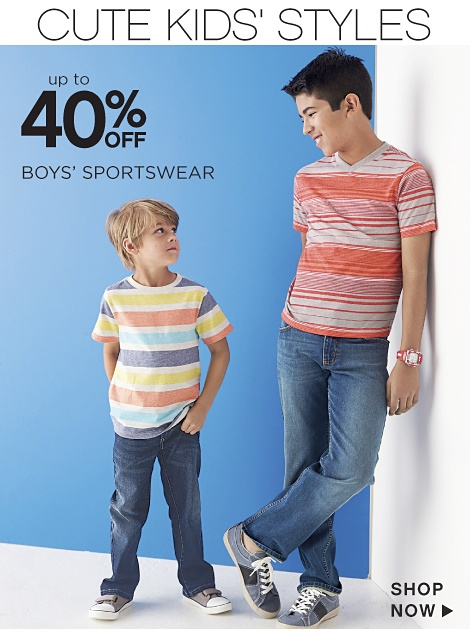Up to 40% off Boys' Sportswear - Shop Now