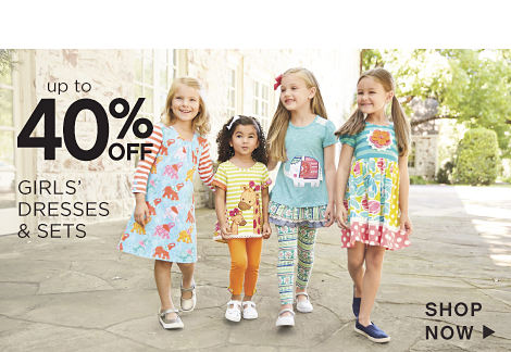 Up to 40% off Girls' Dresses & Sets - Shop Now