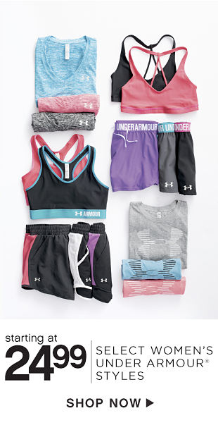 Starting at 24.99 Select Women's Under Armour Styles - Shop Now