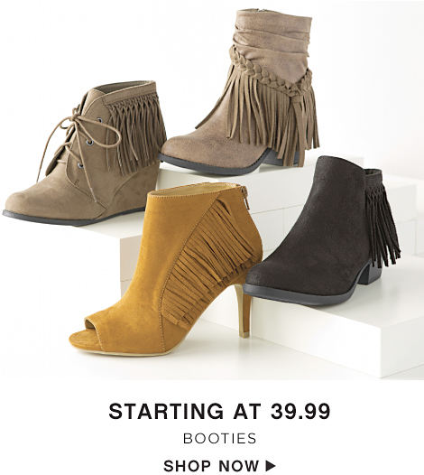 Starting at 39.99 Booties - Shop Now
