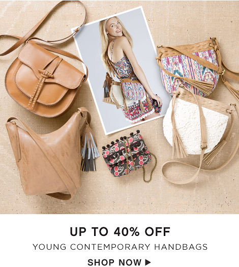 Up to 40% off Young Contemporary Handbags - Shop Now