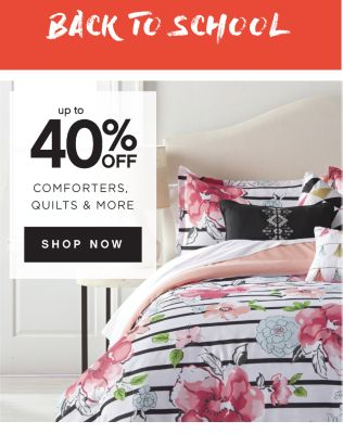 BACK TO SCHOOL MOST ATHLETIC SALE | up to 40% OFF COMFORTERS, QUILTS & MORE | SHOP NOW