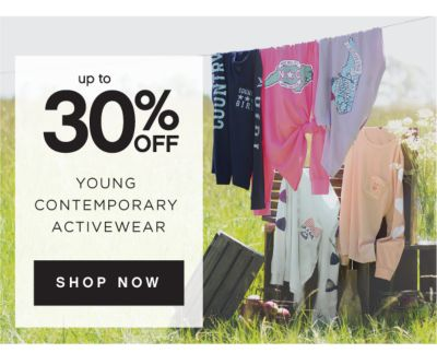 up to 30% OFF YOUNG CONTEMPORARY ACTIVEWEAR | SHOP NOW