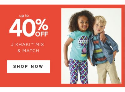 up 40% OFF | J KHAKI™ MIX & MATCH | SHOP NOW