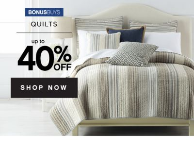 BONUSBUYS | QUILTS up to 40% OFF SHOP NOW