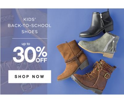 KIDS' BACK-TO-SCHOOL SHOES | up to 30% OFF SHOES