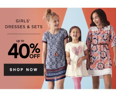 GIRLS' DRESSES & SETS | up to 40% OFF SHOP NOW