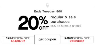 20 percent off bts