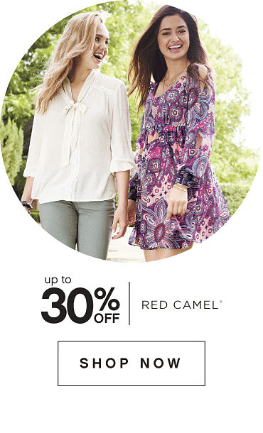 Up to 30% off Red Camel registered trademark. Shop now