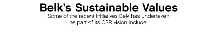 Belk's Sustainable Values
