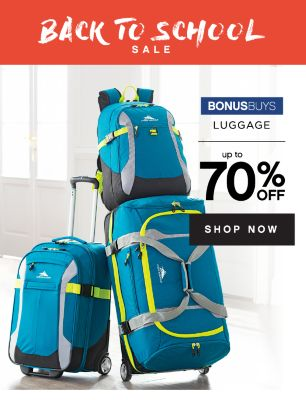 BACK TO SCHOOL SALE | BONUSBUYS | LUGGAGE up to 70% OFF | SHOP NOW