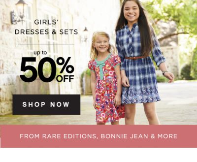 GIRLS' DRESSES & SETS | up to 50% OFF SHOP NOW | FROM RARE EDITIONS, BONNIE JEAN & MORE