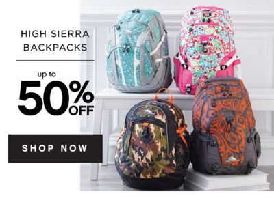 HIGH SIERRA BACKPACKS | up to 50% OFF SHOP NOW