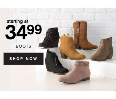 starting at 34.99 BOOTS | SHOP NOW