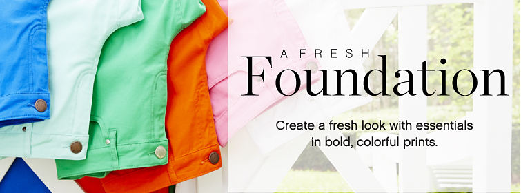A Fresh Foundation | Create a fresh look with essentials in bold, colorful prints.