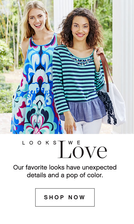 Looks We Love Our Favorite Looks Have Unexpected Details And A Pop Of Color. Shop Now