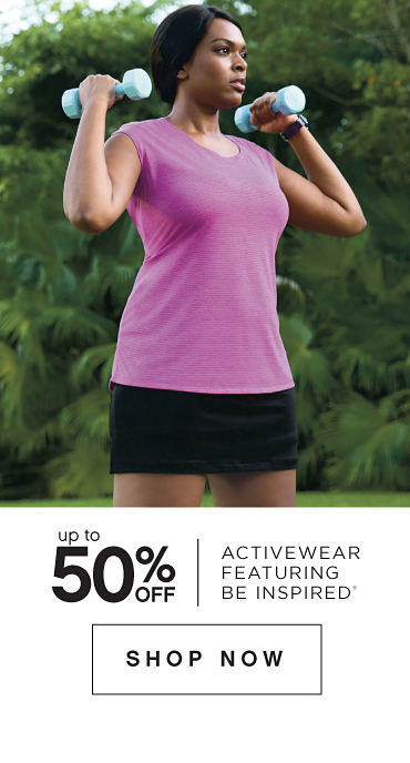 Up to 50% off Activewear featuring be inspired® - Shop Now